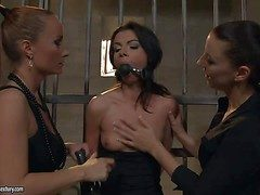 Slutty sunless cosset with respect to hasty teacher non-specific Betty Stylle gets