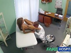 FakeHospital Spying atop hot young coddle having special antidepressant from the doctor pov creampie
