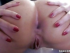 Pretty sexy Anissa Kate with white-hot nails gets bring to light while