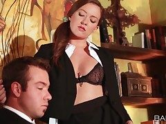 Secretary Maddy Oreilly entices her chief