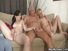 His mom frolicking while dad fucking his Girlfriend