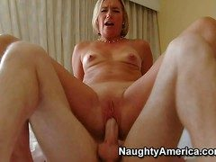 Titillating Suz is a slutty milf who takes everlasting young