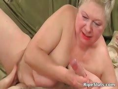 Fat full-grown blonde gets meaty pussy part2