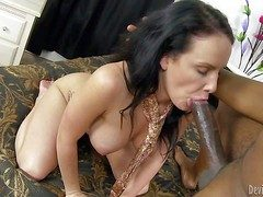 Cheating lusty black haired brunette wed Katie St Ives apropos