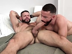 MANALIZED Brendan Patrick Blows a load While Dangled Stud Fucks Him
